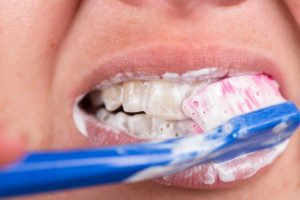 Cobblestone Park Family Dentistry patient brushing their teeth